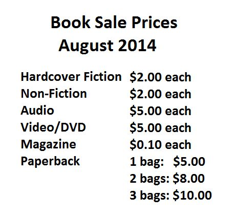 2014 book sale prices
