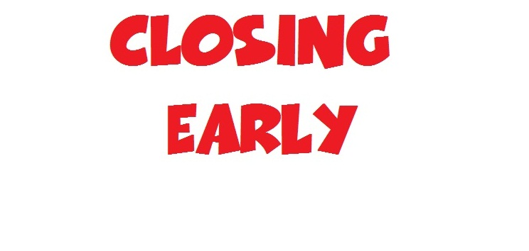 closing early sign template