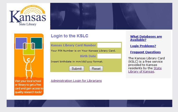 ks lib card login page