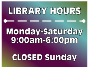 library hours 2016