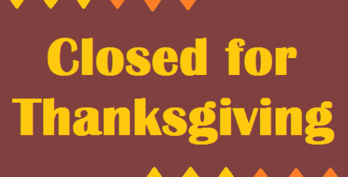 THANKSGIVING SCHEDULE There will be NO Circle Time on Wednesday, November 25. The library will be closed November 26 – 29th and will reopen Monday, November 30.
