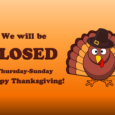 We will be closed Thursday through Sunday for Thanksgiving. Don't forget to stop by today, Tuesday, or Wednesday to stock up on reading material and DVDs to entertain your guests! We wish all our library friends and family a safe and happy holiday!